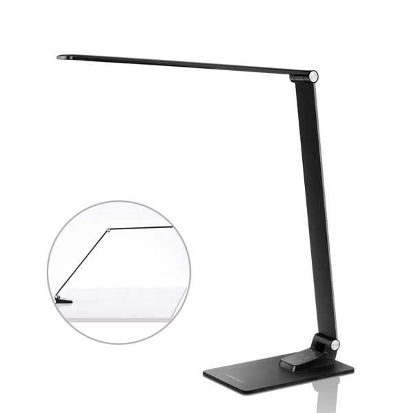 Two-in-one Ultrathin LED Desk Lamp with Metal Clamp Eye- care Dimmable Table Lamp