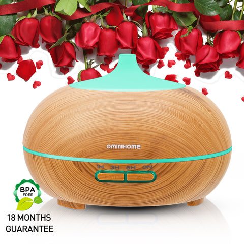 Aromatherapy Essential Oil Diffuser( 300ml) 4 Level Time Setting