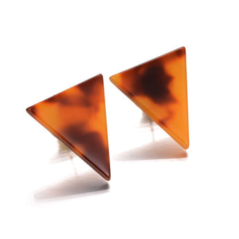 Geometric Triangle Acrylic Stud Earrings