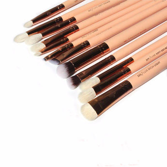 High quality Zoeva 12 Pieces Rose Gold Makeup Brushes Set / With Case