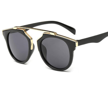 CAT EYE Mirrored Lens Sunglasses