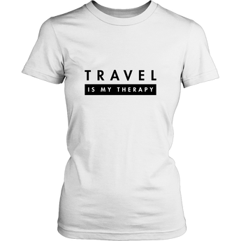 *In-house Designer Tee* - TRAVEL IS MY THERAPY