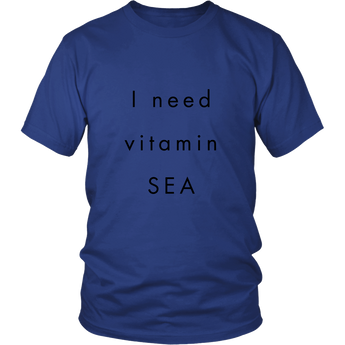 *In-house Designer Tee* - I NEED VITAMIN SEA