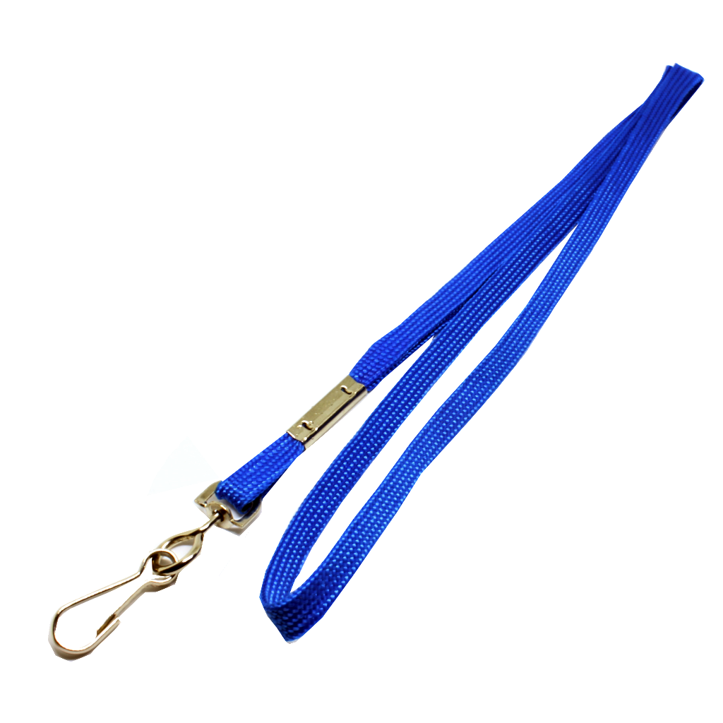 Flat lanyard royal blue