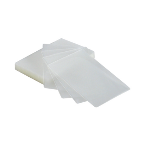 100 - Index Size 7mil Laminating Pouches with Slot