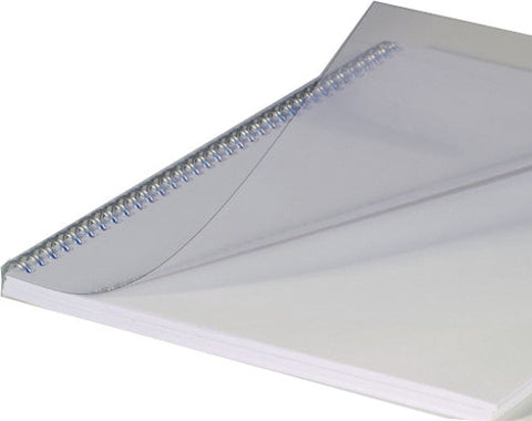 "100 - 8 3/4"" x 11 1/4"" 10 mil clear binding covers r/c"