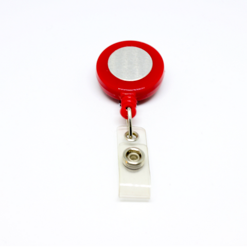 Badge reel red