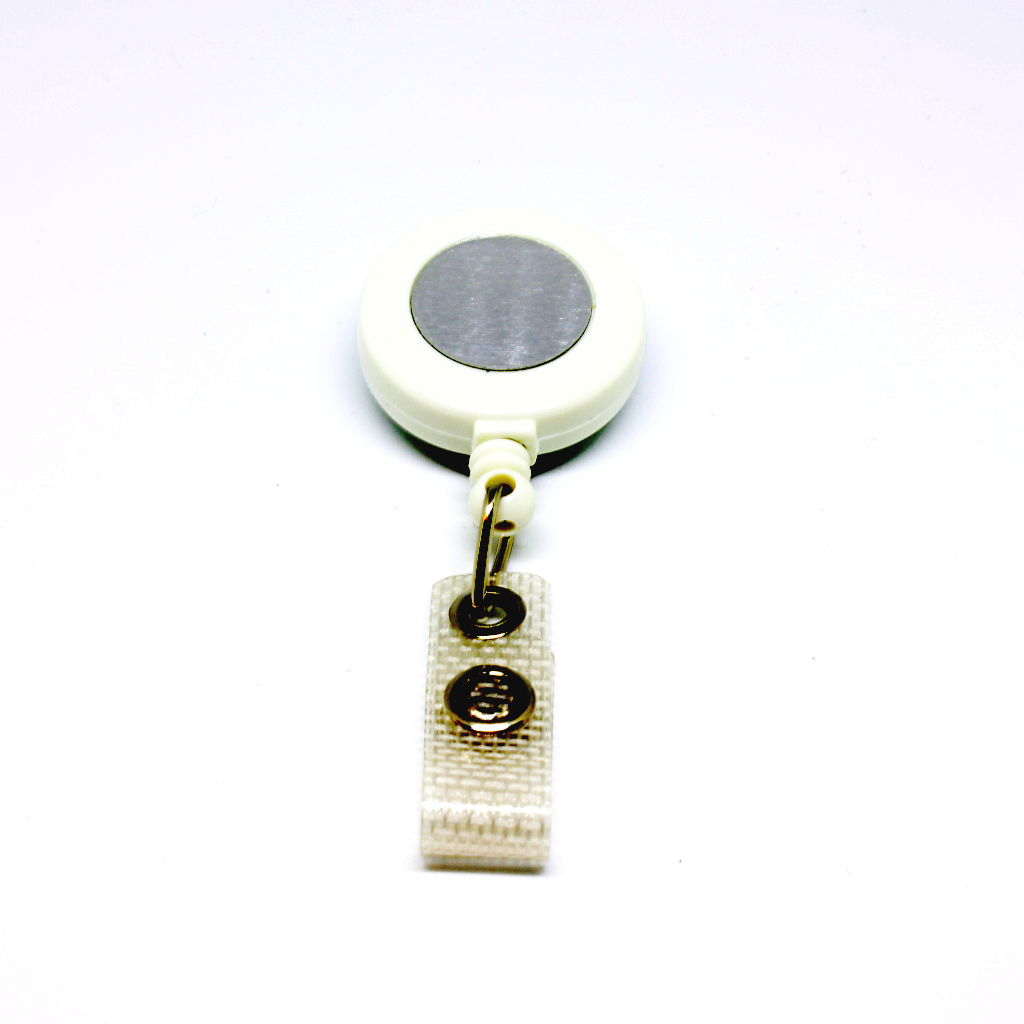 Badge reel white