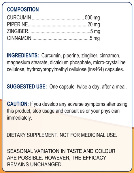 Curcumin - with Piperine
