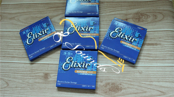 12 sets/lot free shipping wholesale Elixir .011-.049 12102 Nanoweb Electric guitar strings Super Light strings guitar parts