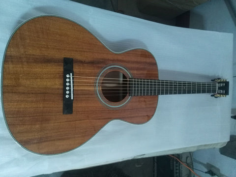 free shipping parlor body guitar professional koa wood acoustic guitar OO acoustic guitars