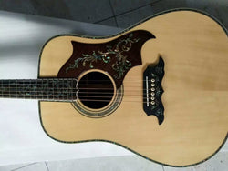free shipping all solid wood acoustic guitar handmade AAA top quality D guitars fancy guitar