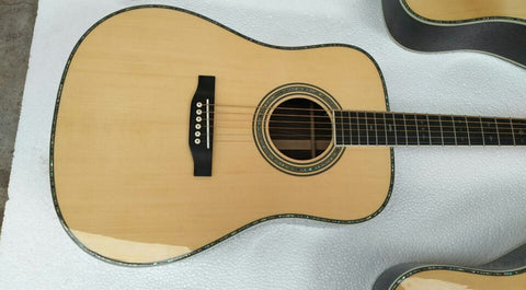 free shipping AAAA all solid wood nitro lacquer finishing acoustic guitar D45 style acoustic Guitarra