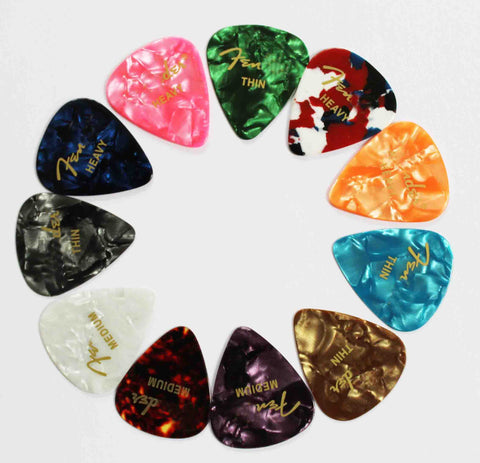 100 Pcs New Acoustic Picks Plectrum Celluloid Electric Smooth Guitar Pick Accessories 0.71mm 0.46mm 0.96mm