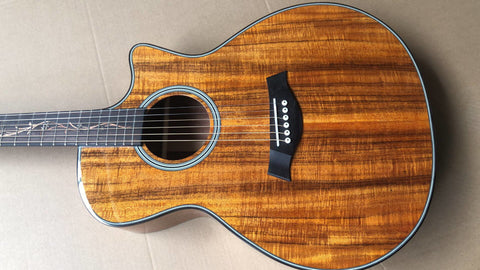 free shipping KOA wood Cutaway K24ce acoustic guitar,Factory Custom Chaylor 41 inches GA body electric Guitar