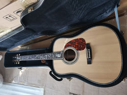free shipping Factory custom 41'' 45 D 20 frets pearl inlay and binding dreadnought vine inlay acoustic guitar