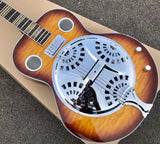 free shipping Dobro Guitarra Vintage Sunburst Hofner Dobro Resonator Steel Guitar metal top Mini Humbucker best quality guitar