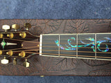free shipping custom single cut acoustic guitar with ebony fretboard abalone binding best quality guitars