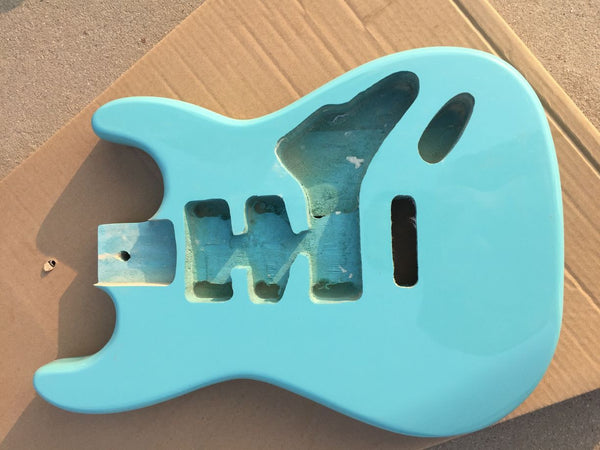 free shipping sky blue strat guitar body for sale DIY guitar kits for sale