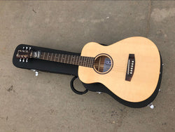 free shipping Byron solid natural color mini guitar travel acoustic guitar beginners guitars