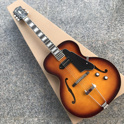 free shipping custom archtop guitar top quality JAZZ GUITAR,6 strings electric guitar,VS GUITAR,hollow body,double f hole P90 guitar