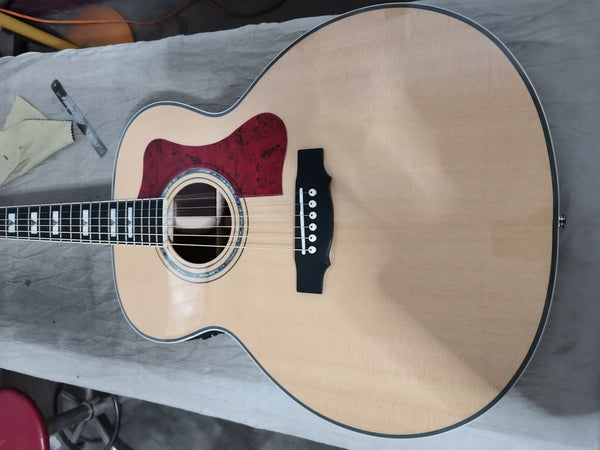 free shipping professional guitar one piece wider neck Jumbo custom guitar VINTAGE guitar guild 6 strings acoustic electric guitars