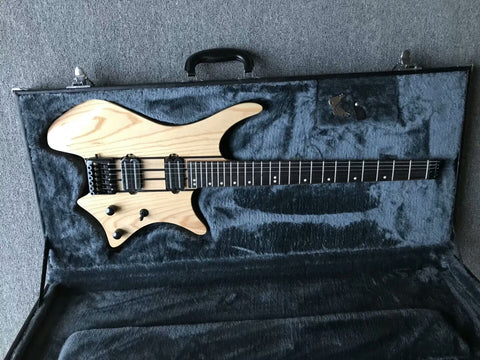 free shipping headless guitar Neck Through Body Headless Electric Guitar ASH Body,Rail Dual Pickups,Black Hardware different colors