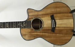 free shipping Abalone Solid Koa wood 916 acoustic guitar,Ebony fingerboard Cutaway koa acoustic electric Guitar