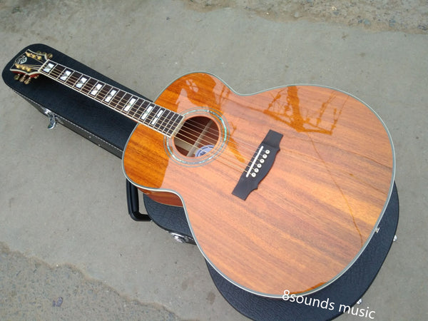 free shipping professional guitar jumbo acoustic guitars F50 vintage guitar AAA koa guild acoustic electric guitars