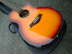 free shipping Byron vintage color acoustic guitar Grand Auditorium acoustic electric guitar