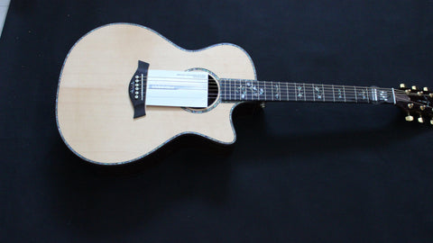Free shipping Top Quality Musical Instruments 914ce Acoustic Guitar With EQ single cut solid guitar ebony fretboard