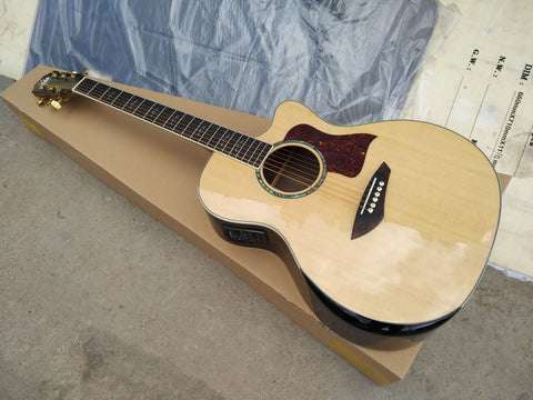 free shipping top quality cutaway guitars new promotion customize single cut solid acoustic electric guitar