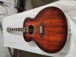 free shipping custom 43inches dark koa jumbo acoustic guitar F50 vintage guitar koa guild acoustic electric Guitarra