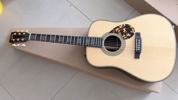 free shipping AAAA all solid wood acoustic guitar custom Dreadnought body top quality OEM Byron guitar