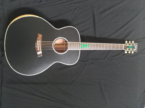 free shipping Byron custom jumbo acoustic guitar 8sounds music 43 inches natural matt finish guitar
