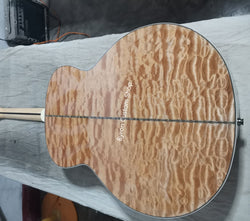 free shipping Factory Custom solid wood acoustic guitar AAA quality Guitarra,handmade customize quilted maple jumbo 43 guitar SJ200