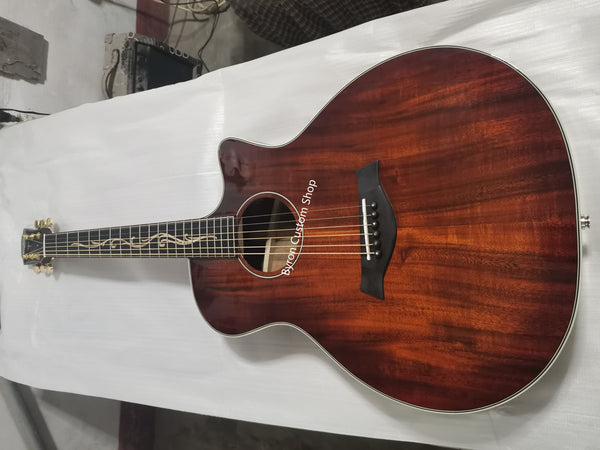 free shipping Custom Chaylor K24 premium all solid koa acoustic guitar handmade cutaway Ebony fingerboard Guitar acoustic