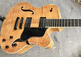 free shipping Byron handcraft Carved solid archtop jazz guitar 7 string koa wood jumbo jazz blues guitar