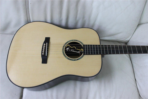 free shipping all solid wood acoustic guitars chinese handmade D45 style guitar