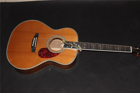 free shipping top quality OMJM acoustic guitars AAA all solid wood acoustic electric guitar OEM acoustic guitar