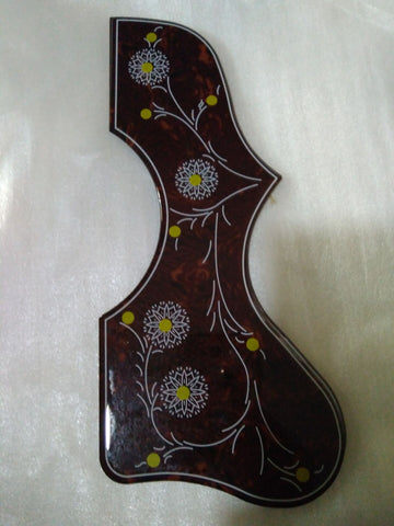 free shipping1pc free gift high quality Deluxe Folk Acoustic pickguard 2mm thickness Flower Acoustic Guitar Pickguard for J200