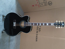 free shipping 8sounds music 43 inches lefty jumbo acoustic guitar customize black Byron left handed acoustic guitar