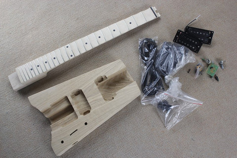 free shipping Headless style DIY electric Guitar kit headless unfinished guitar DIY electric Guitar