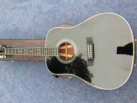 free shipping D35 acoustic guitar Johnny cash signature acoustic electric guitar acoustic guitar solid top D35 BK guitar