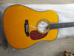 free shipping custom all solid wood D42 vintage dreadnought acoustic folk guitar new 2021 guitar