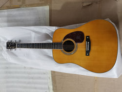 free shipping Byron customize D42 style acoustic guitar AAA all solid wood with flame maple wood binding folk guitar