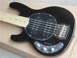 Free Shipping Top Qulity Music Man left handed black 5 Strings Bass Guitar right hand Musicman Bass Guitar
