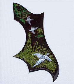 2.0mm thickness hand painting finish self sticker acoustic guitar pickguard dove guitar pickguard