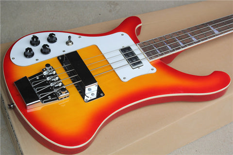 free shipping 4 strings Ricken 4003 Bass guitar left handed custom cherry sunburst Rick Electric bass