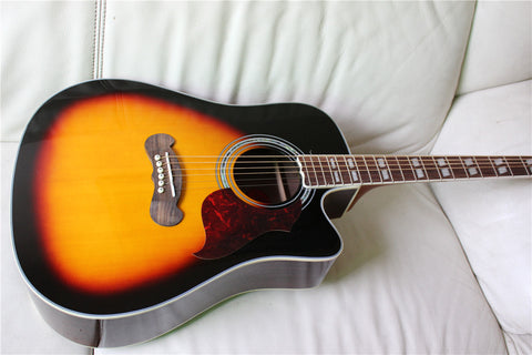 free shipping cutaway Chibson songwriter studio deluxe acoustic guitar single cut GB songwriter electric acoustic guitar